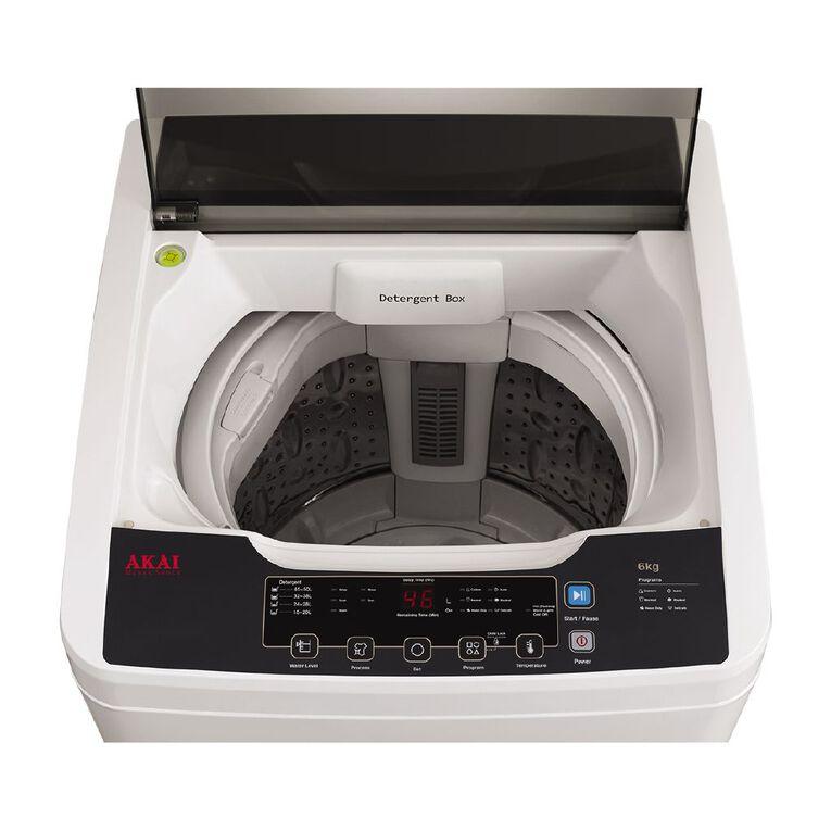 Akai Top Load Washing Machine 6 kg White, , hi-res