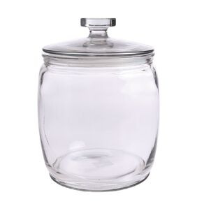 Living & Co Round Glass Jar Clear 7L