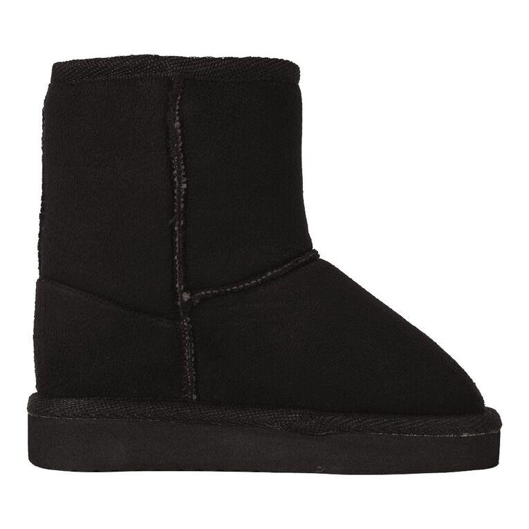 Basics Brand Boys' Harvest Boot Slippers, Black, hi-res