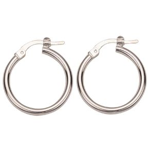 Sterling Silver Polished Hoop Earrings 10mm