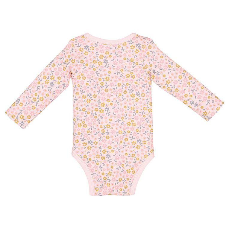 Young Original Baby Organic Cotton Bodysuit, Pink Light, hi-res