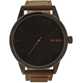 Mambo Men's Analogue Lifestyle Watch Black Dial
