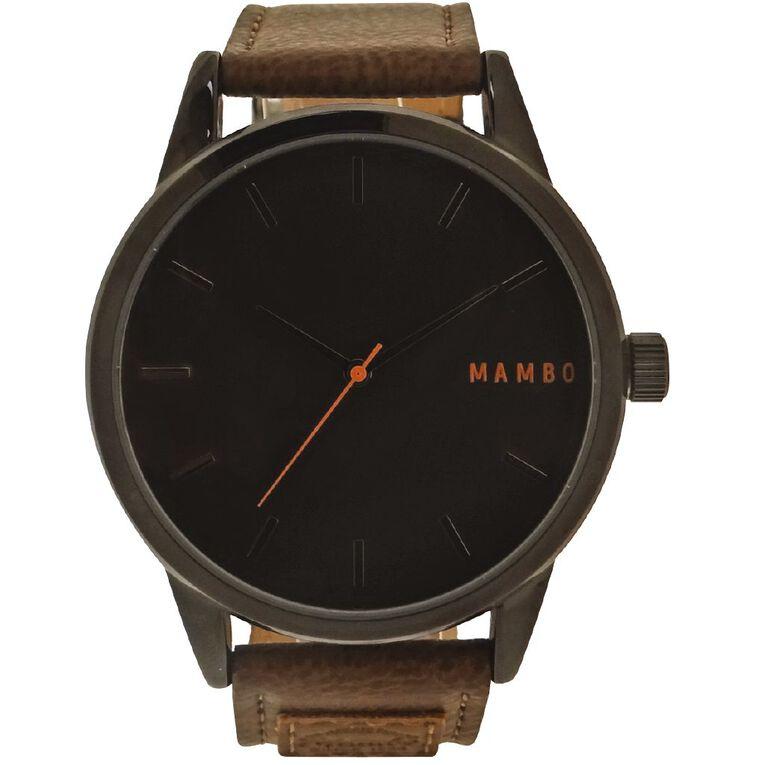 Mambo Men's Analogue Lifestyle Watch Black Dial, , hi-res