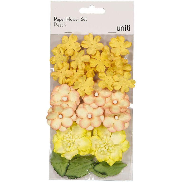 Uniti Paper Flower Set Peach, , hi-res