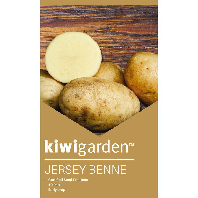 Kiwi Garden Seed Potato Jersey Benne 10PK, , hi-res