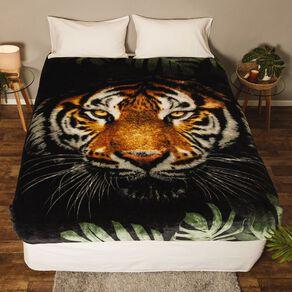 Living & Co Blanket Printed Mink Feel 400gsm Tiger Queen