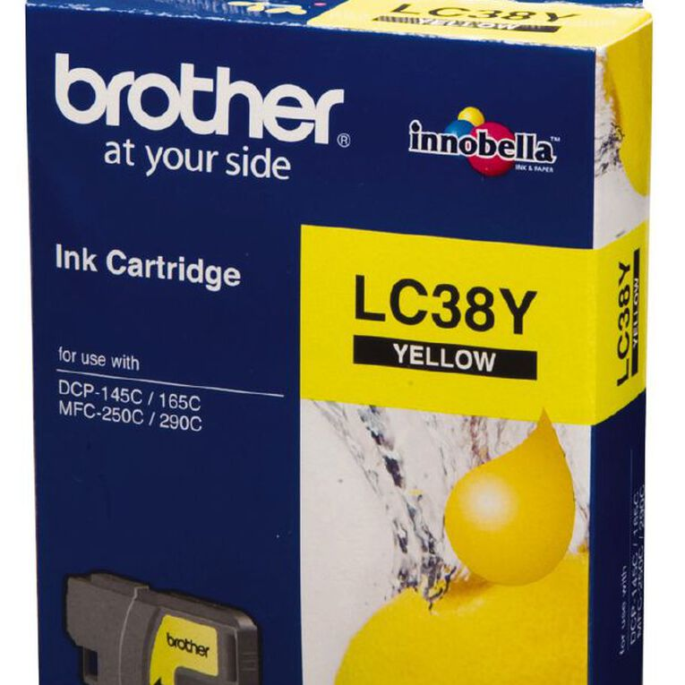 Brother Ink LC38 Yellow (260 Pages), , hi-res