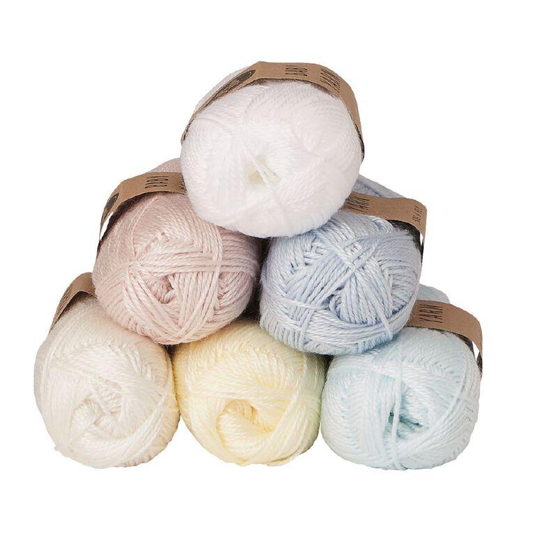 Uniti Yarn Baby Acrylic 4 Ply White 50g, , hi-res