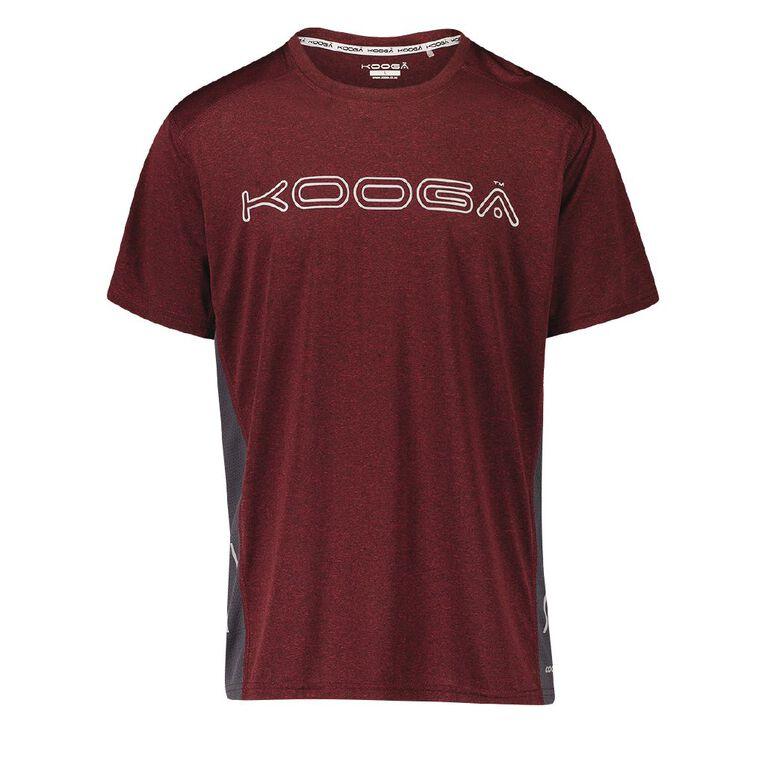 Kooga Men's Cooldry Tee, Grey Dark, hi-res