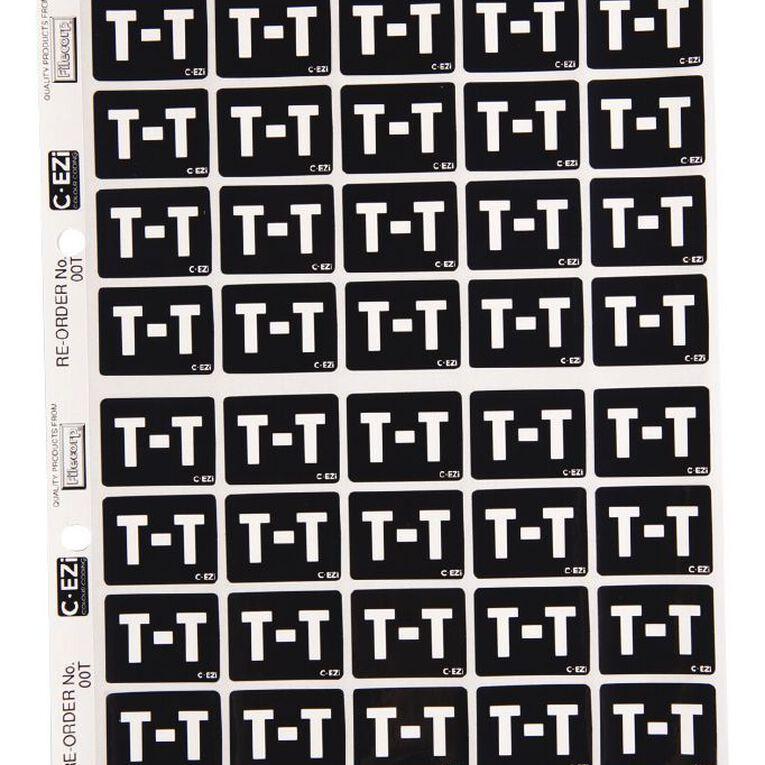 Filecorp Coloured Labels T Black, , hi-res