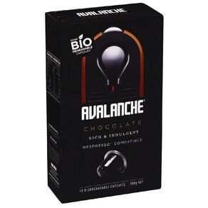 Avalanche Hot Chocolate Capsule Nesspresso Compatible 10 Pack