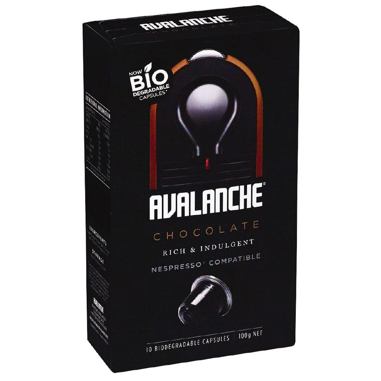 Avalanche Hot Chocolate Capsule Nesspresso Compatible 10 Pack, , hi-res