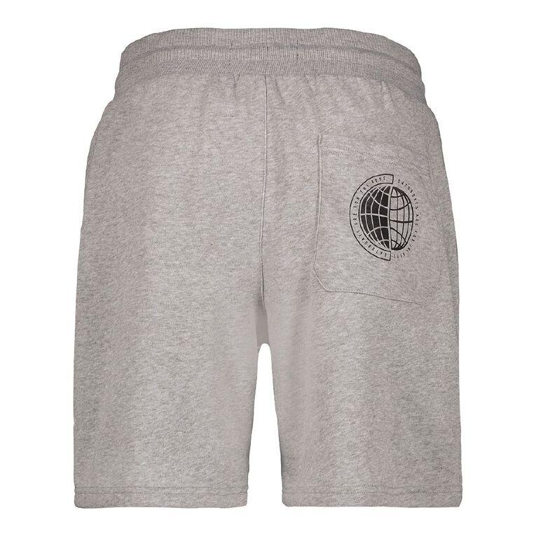 Garage Men's Knit Fresh Shorts, Grey Marle, hi-res