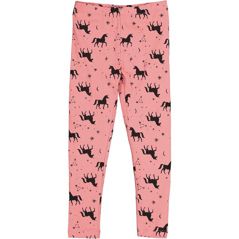 Young Original Girls' Lilly Leggings, Pink Mid, hi-res
