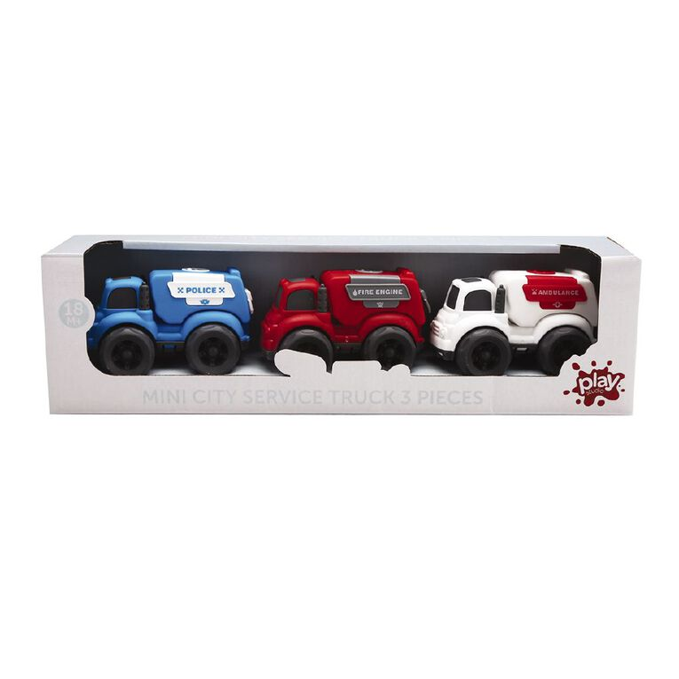 Play Studio Mini Emergency Vehicles 3 Pack, , hi-res