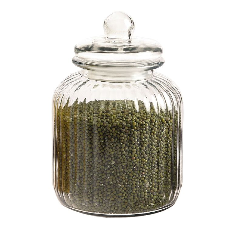 Living & Co Ridge Glass Jar 3900ml, , hi-res image number null