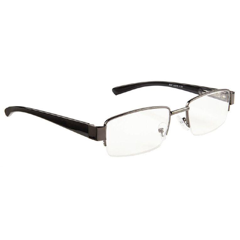 Focus Reading Glasses Half Eye Gunmetal 1.00, , hi-res