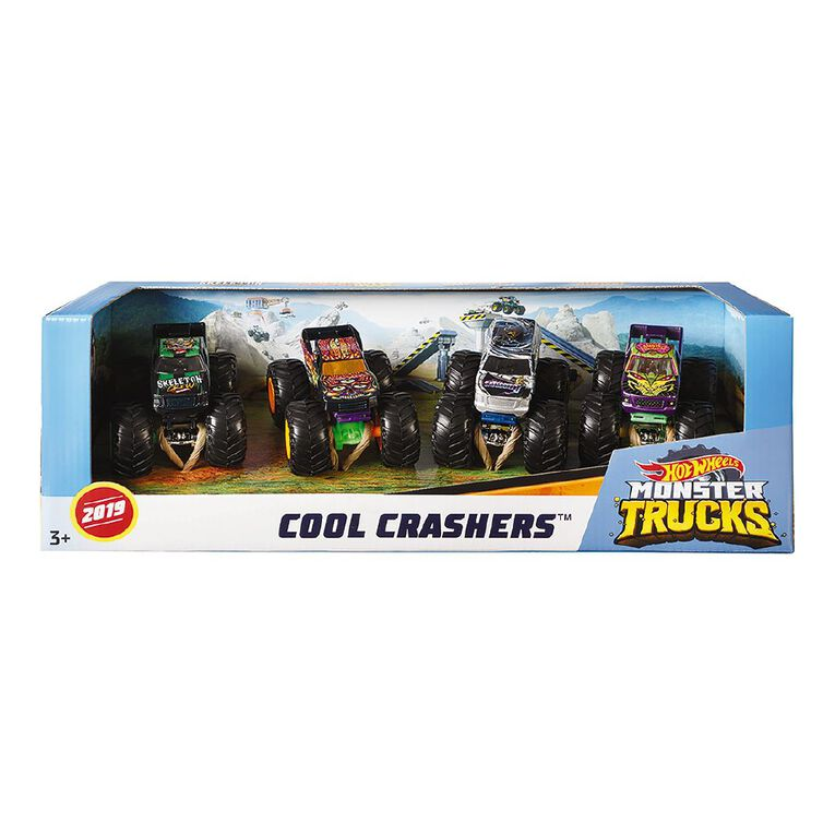 Hot Wheels Monster Trucks 1:64 Scale Exclusive Assorted 4 Pack, , hi-res