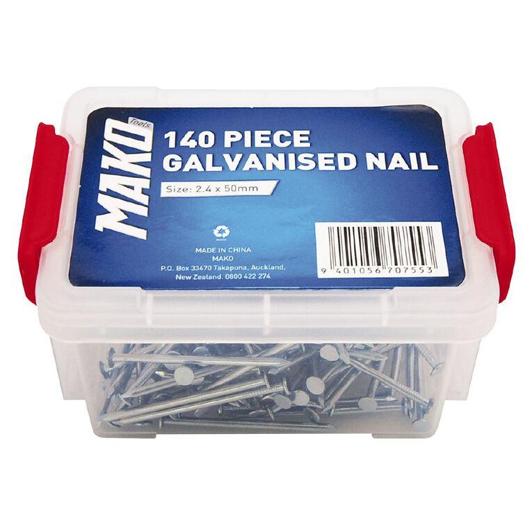 Mako Galvanised Nails 140 Piece, , hi-res