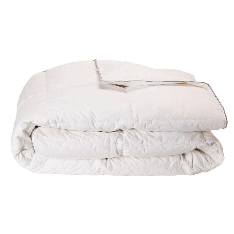 Living & Co Duvet Inner Goose Feather/Down 80/20 White Super King, White, hi-res