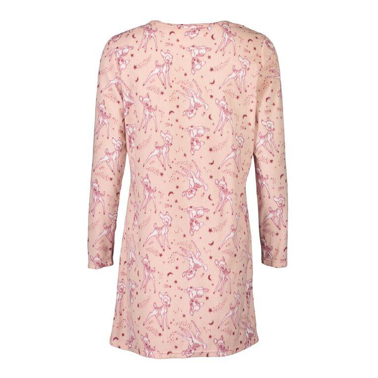 Disney H&H Women's Fleece Nightie, Pink, hi-res