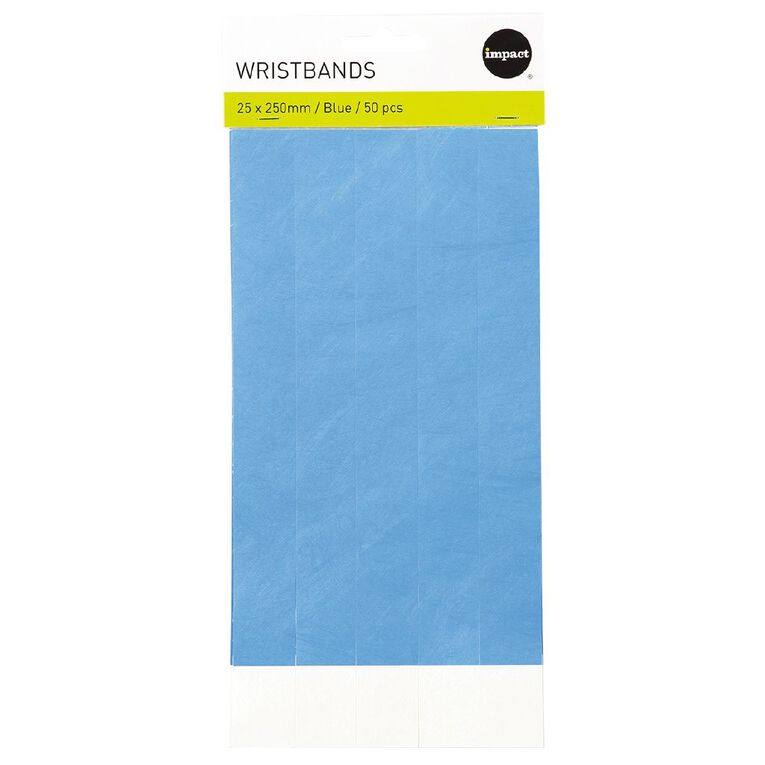 Impact Wristbands Blue 50 Pieces, , hi-res