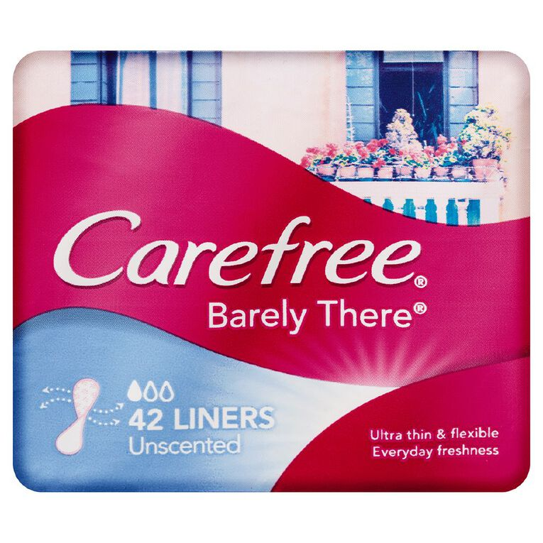 Carefree Barely There Liners 42 Pack, , hi-res