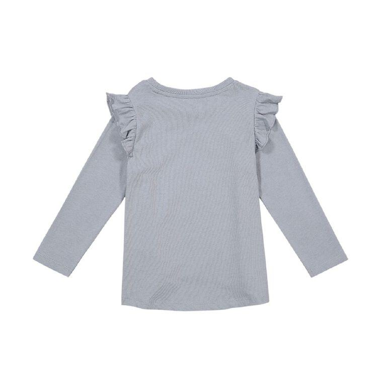 Young Original Toddler Long Sleeve Frill Tee, Blue Light, hi-res