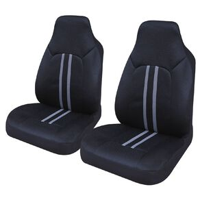 Mako Car Seat Cover Polyester Front Pair High Back