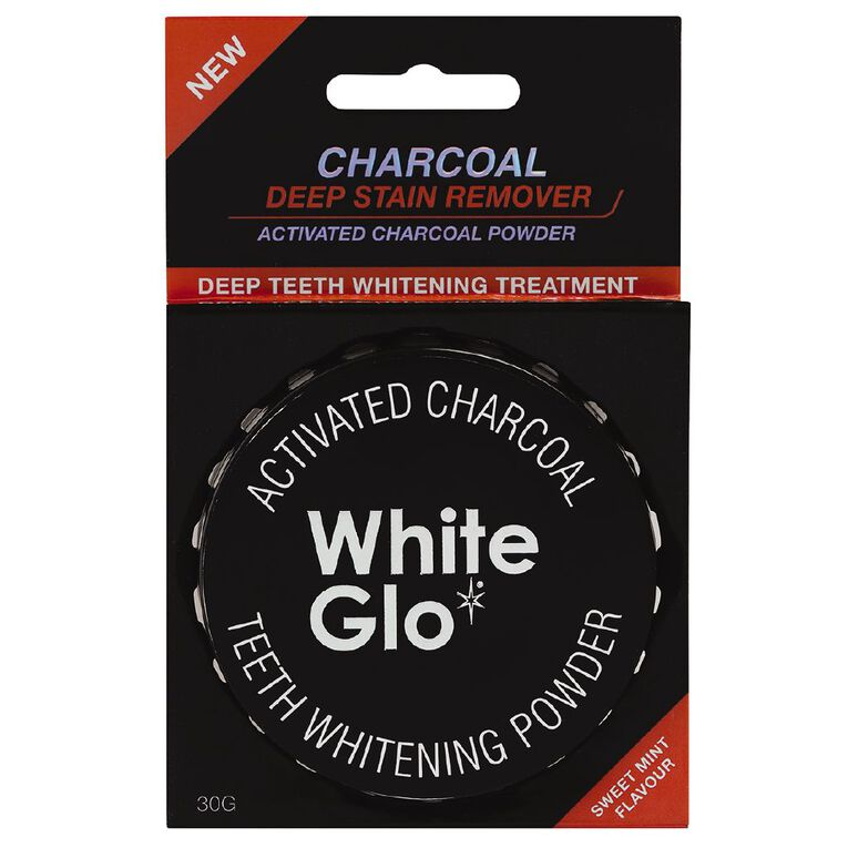 White Glo Charcoal Teeth Whitening Powder 30g, , hi-res