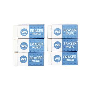 WS Eraser Small 6 Pack White