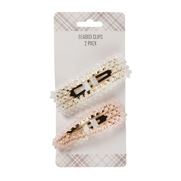 Beaded Clips 2 Pack, , hi-res