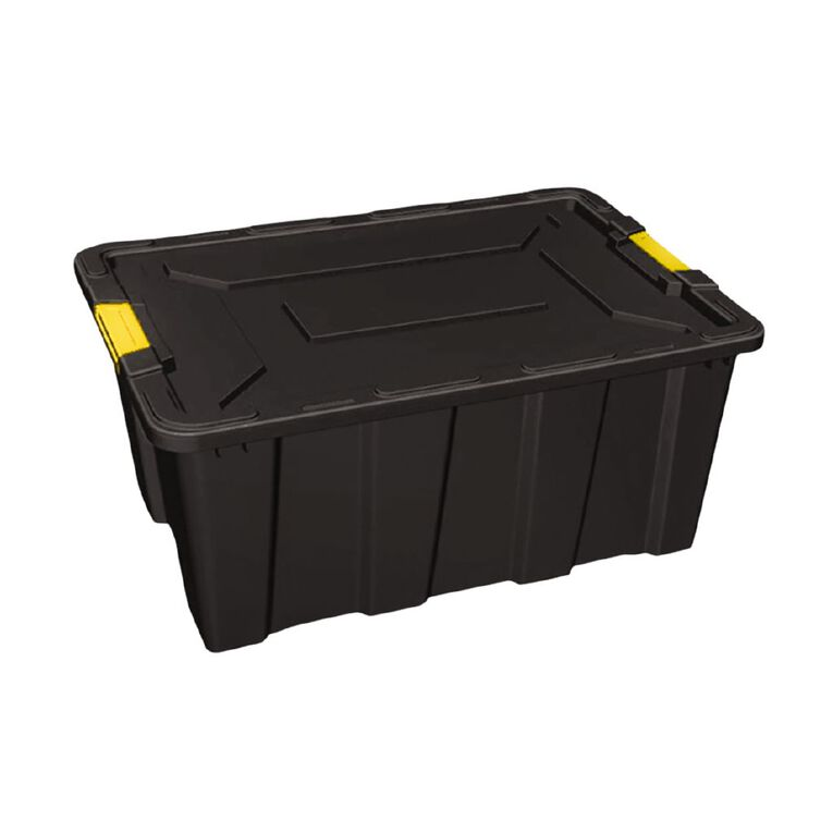 Living & Co Heavy Duty Storage Box Black 100L, , hi-res