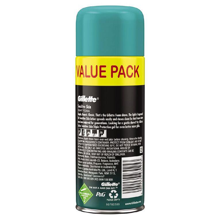 Gillette Shaving Foam Sensitive Skin 333g, , hi-res