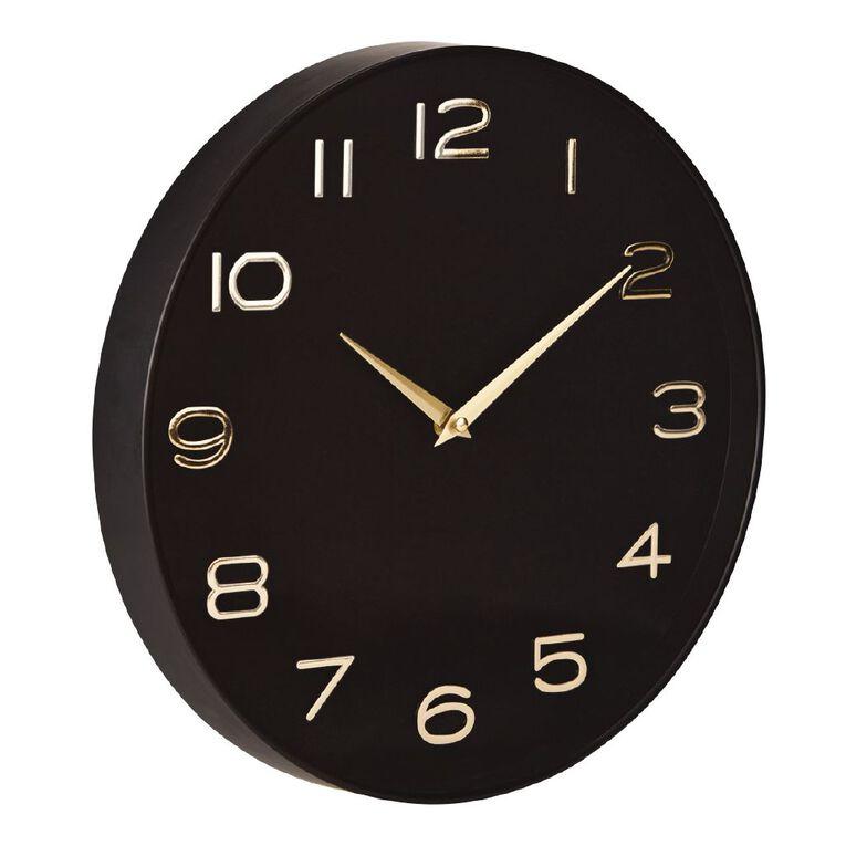 Living & Co Modern Clock Gold 35cm, , hi-res