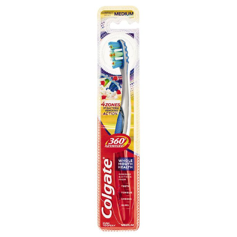 Colgate 360 Advanced Toothbrush Assorted Medium, , hi-res image number null