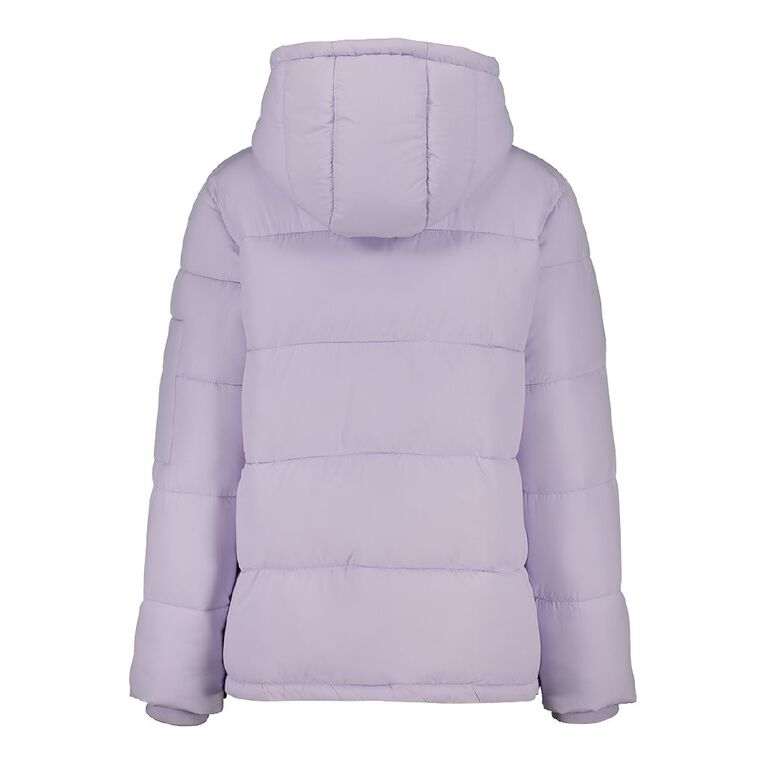 H&H Women's Hooded Puffer Jacket, Purple Light, hi-res