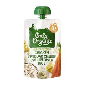 Only Organic Chicken Cheddar Cheese & Cauliflower Rice 120g