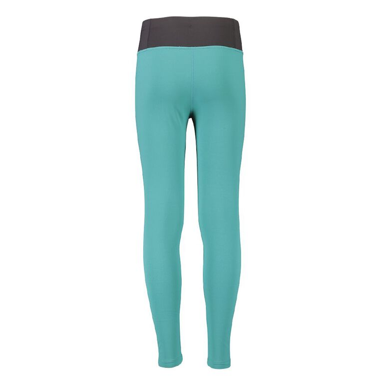 Active Intent Girl's Big Brand Printed Leggings, Green Mid, hi-res