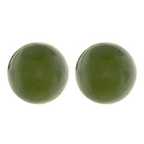 Jade Ball Earrings 8mm