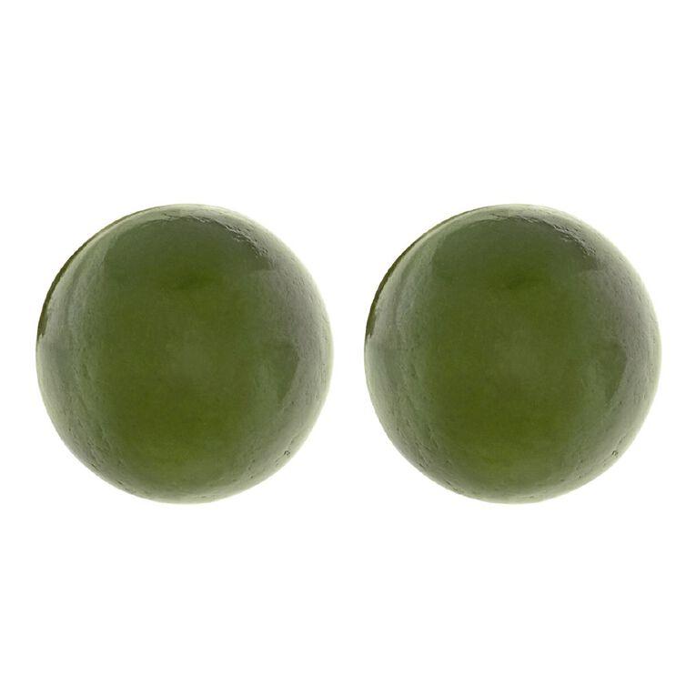 Jade Ball Earrings 8mm, , hi-res