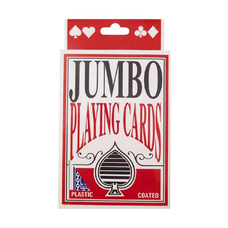 Jumbo Playing Cards, , hi-res