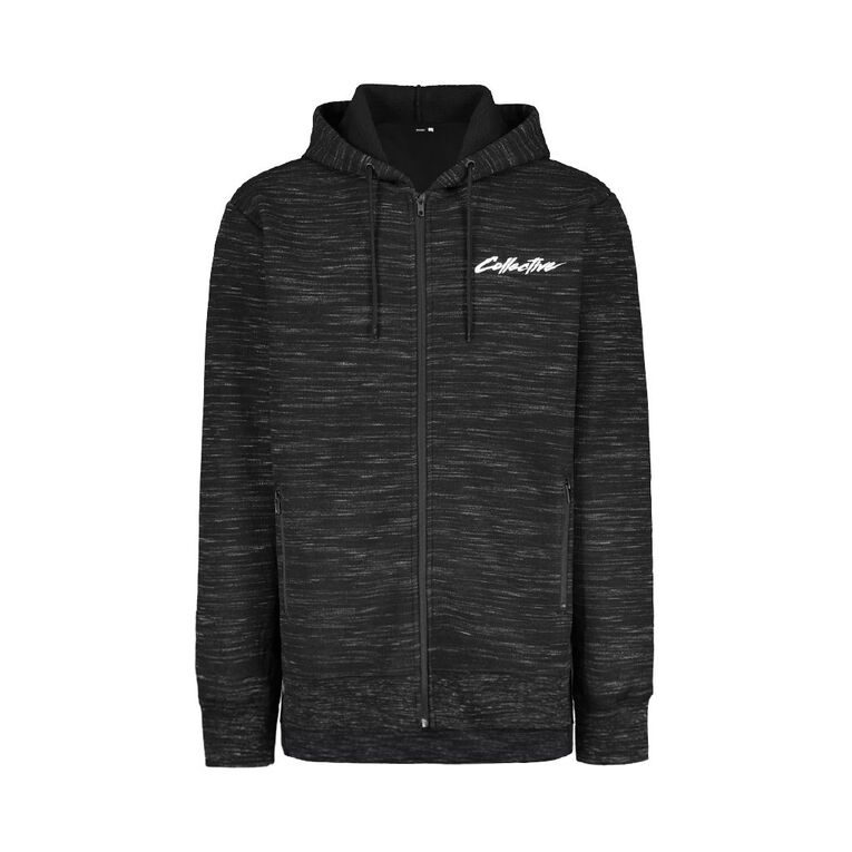 Garage Men's Sherpa Waffle Sweatshirt, Black, hi-res