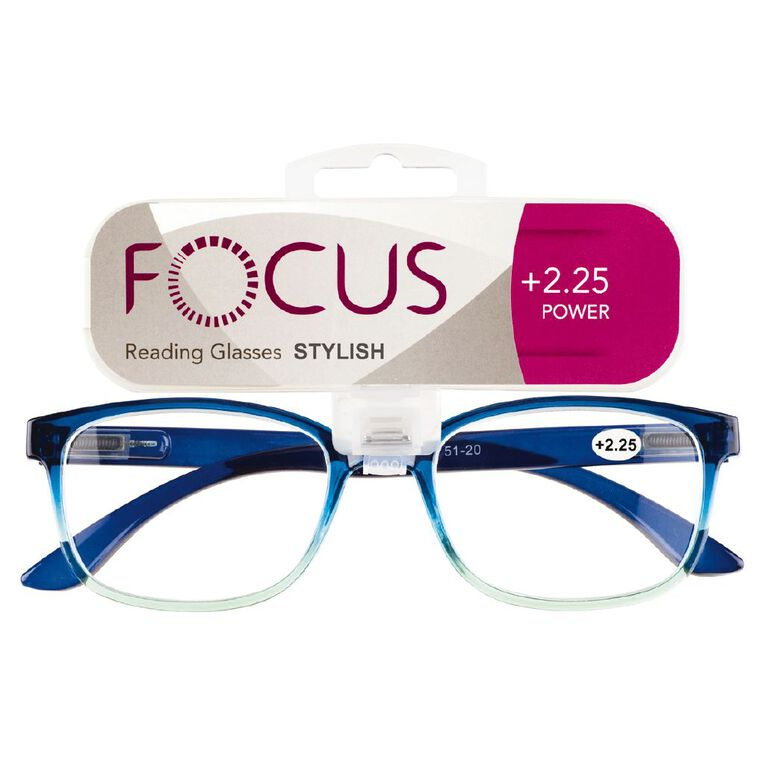 Focus Reading Glasses Stylish Power 2.25, , hi-res