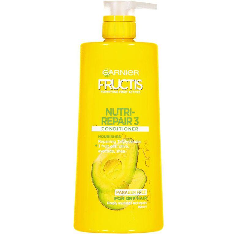Garnier Fructis Nutri-Repair 3 Conditioner 850ml, , hi-res