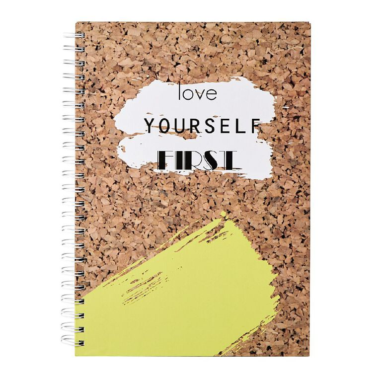 Uniti Fun & Funky Q3 Hardcover Spiral Notebook Make Today Amazing A4, , hi-res