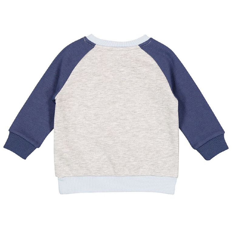 Young Original Baby Novelty Sweatshirt, Grey Mid, hi-res