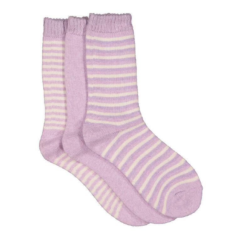 H&H Women's Home Socks 3 Pack, Purple Light, hi-res