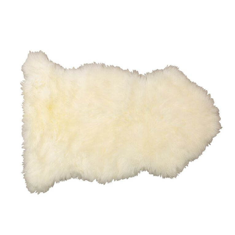 Living & Co Genuine Sheep Skin Rug Natural 60cm x 90cm, Natural, hi-res image number null
