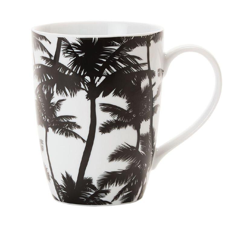 Living & Co Printed Mug Palm Leaves Black/White, , hi-res